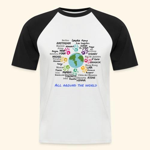 All around the world uomo - Maglia da baseball a manica corta da uomo