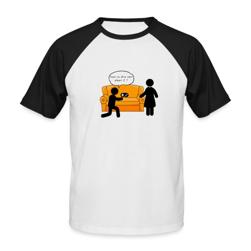 player 2 png - T-shirt baseball manches courtes Homme