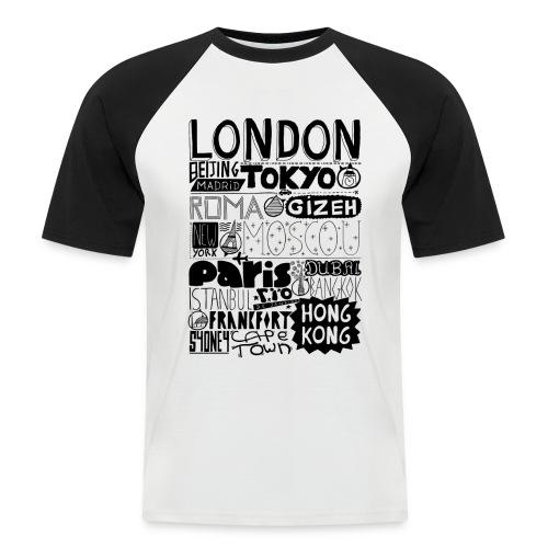 Villes du monde - T-shirt baseball manches courtes Homme