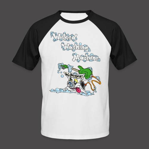 Wicked Washing Machine Cartoon and Logo - Mannen baseballshirt korte mouw