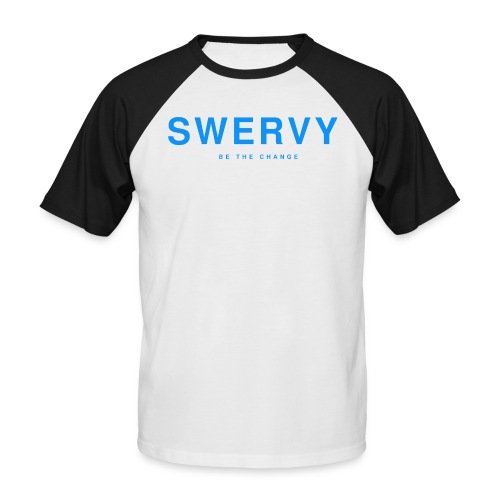 SWERVY BE THE CHANGE - BLUE - Men's Baseball T-Shirt