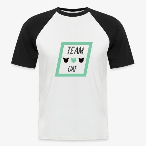 Team Cat - Slogan Tee - Koszulka bejsbolowa męska