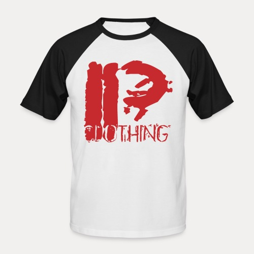 IRON PSYCHO LOGO ORIGINAL-RED - Men's Baseball T-Shirt