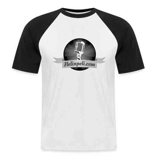 Nelinpelin logo MV - Miesten lyhythihainen baseballpaita