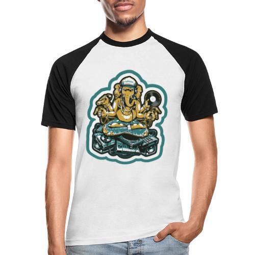 Elefant Ganesha Logo - Kortærmet herre-baseballshirt