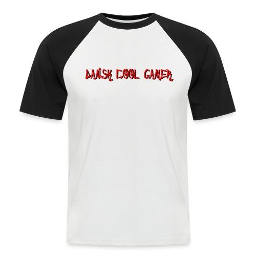 Dansk cool Gamer - Kortærmet herre-baseballshirt