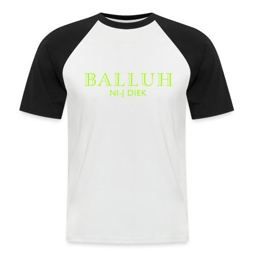BALLUH NI-J DIEK - navy/neon - Mannen baseballshirt korte mouw