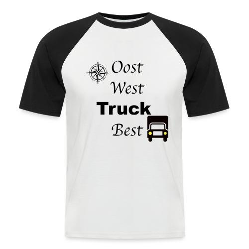 Oost West Truck Best - Mannen baseballshirt korte mouw