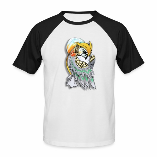 Cosmic owl - Camiseta béisbol manga corta hombre