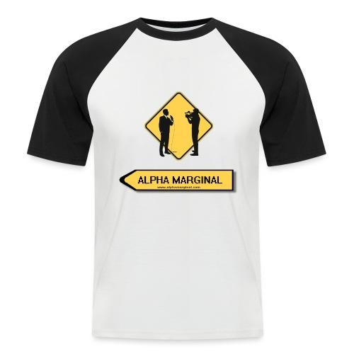 Alpha Marginal - T-shirt baseball manches courtes Homme