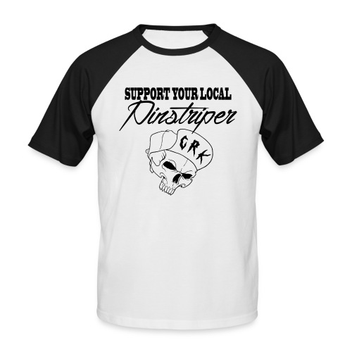 Support your local pinstrip png - T-shirt baseball manches courtes Homme