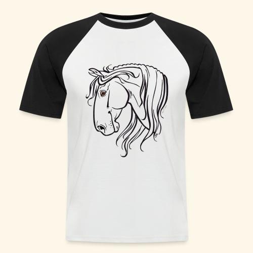 Cheval espagnol (noir) - T-shirt baseball manches courtes Homme