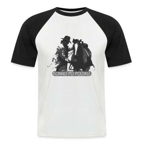 horse2 - Koszulka bejsbolowa męska