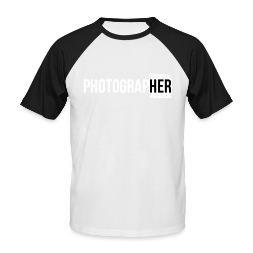 Photographing-her - Men's Baseball T-Shirt