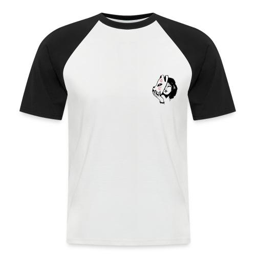 woman mask - Kortærmet herre-baseballshirt
