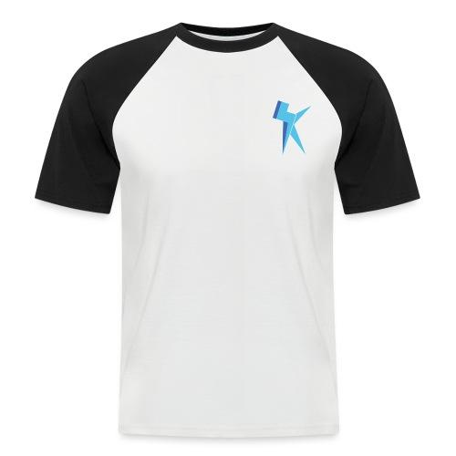 K Vlogs Logo - Mannen baseballshirt korte mouw