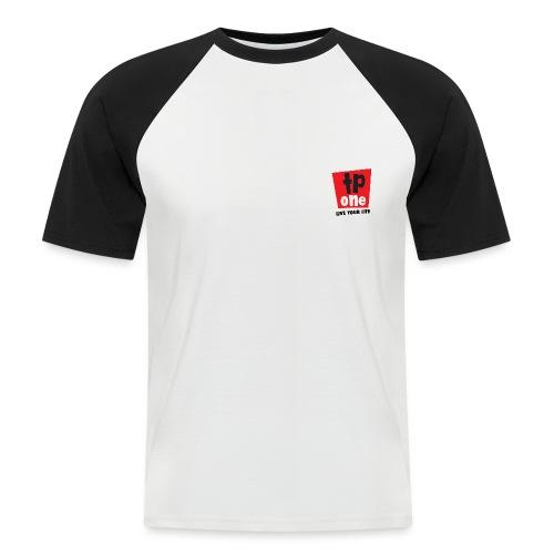 TP1 Logo Black Text - Men's Baseball T-Shirt