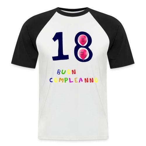 18 BUON compleanno - Maglia da baseball a manica corta da uomo
