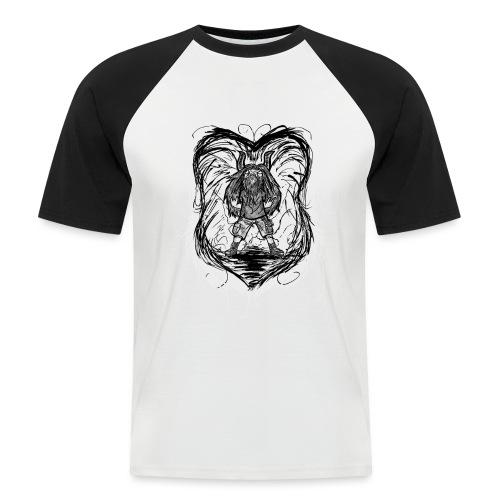 Horned Metalhead - Men's Baseball T-Shirt
