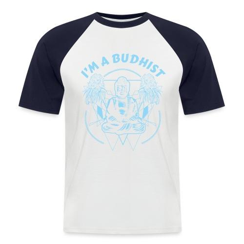 Im a budhist - Kortermet baseball skjorte for menn