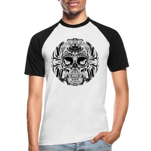 skull SW - Männer Baseball-T-Shirt