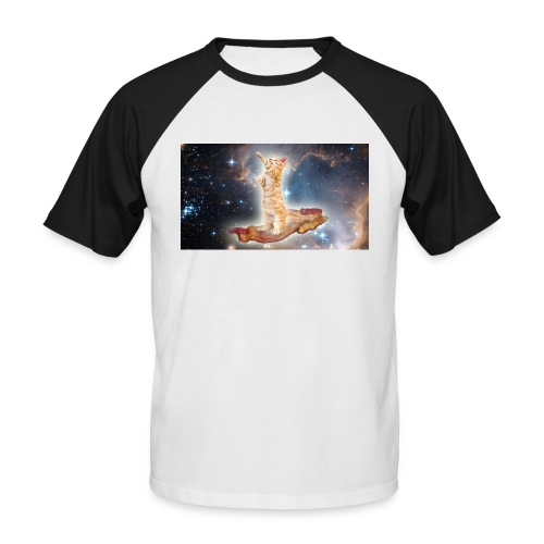 Space Cat On a Piece O' Bacon - Men's Baseball T-Shirt