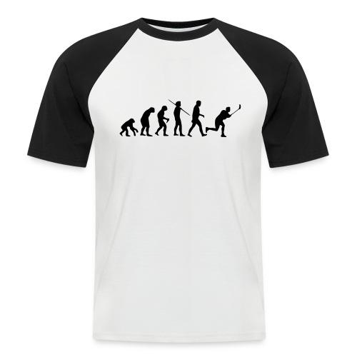 Floorball Evolution Black - Männer Baseball-T-Shirt