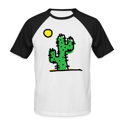 Cactus single - Maglia da baseball a manica corta da uomo