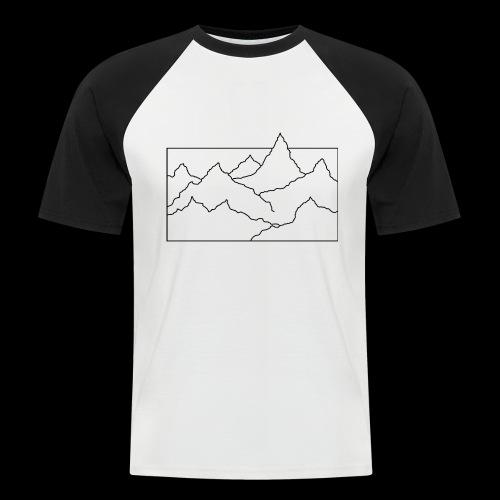 Kontur Gebirge schwarz - Männer Baseball-T-Shirt