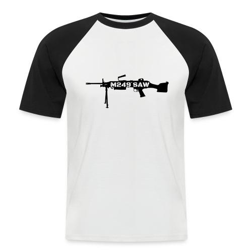 M249 SAW light machinegun design - Mannen baseballshirt korte mouw
