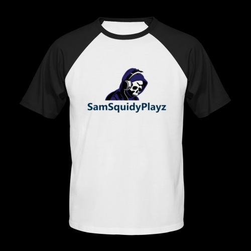 SamSquidyplayz skeleton - Men's Baseball T-Shirt