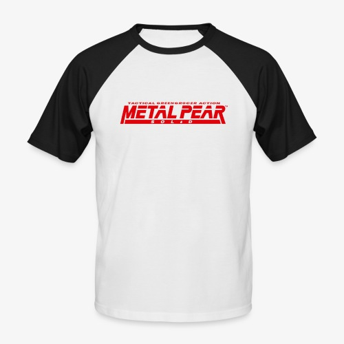Metal Pear Solid: Tactical Greengrocer Action - Men's Baseball T-Shirt