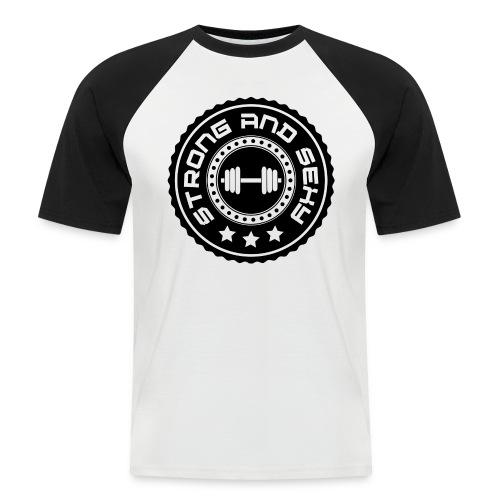 badge png - Mannen baseballshirt korte mouw