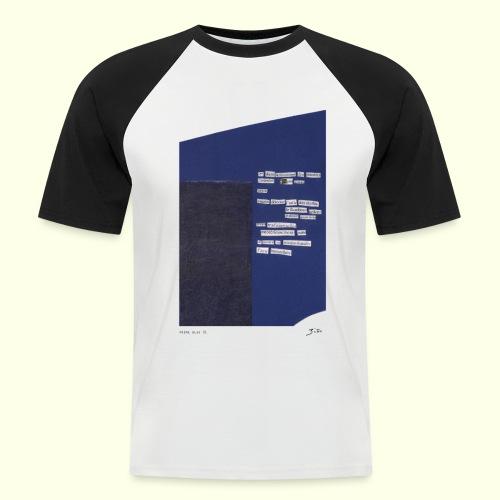 poème bleu 01 - T-shirt baseball manches courtes Homme
