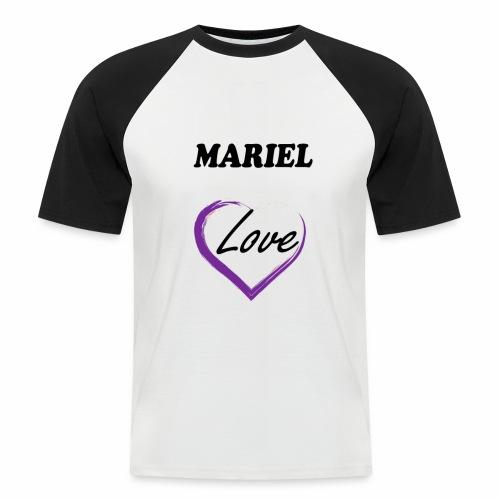 Mariel Love - Camiseta béisbol manga corta hombre