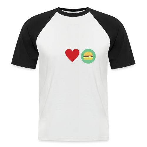 Amor de hamburguesa - Camiseta béisbol manga corta hombre
