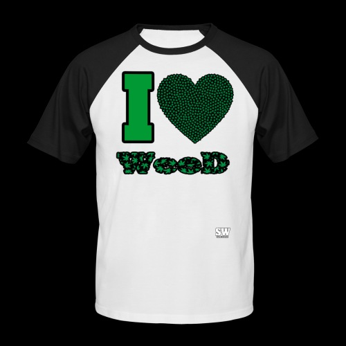 I Love weed - T-shirt baseball manches courtes Homme