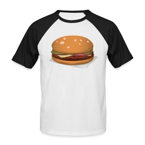 hamburger-576419 - Maglia da baseball a manica corta da uomo