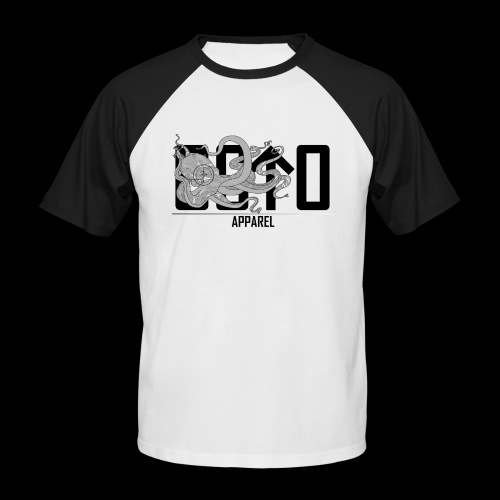 OctoApparel Logo schwarz - Männer Baseball-T-Shirt