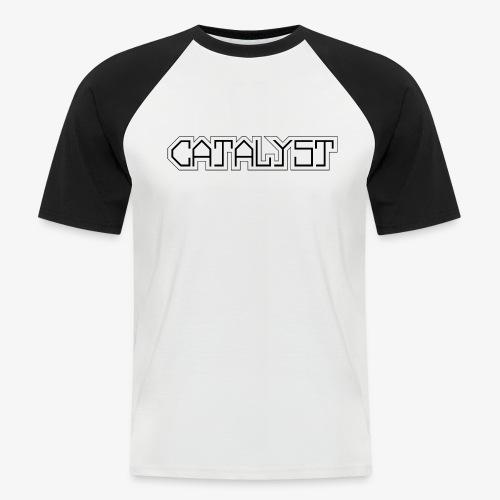 Logo Catalyst Schrift Schwarz A4 - Männer Baseball-T-Shirt