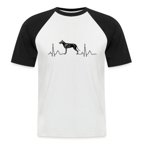 ECG met hond - Mannen baseballshirt korte mouw