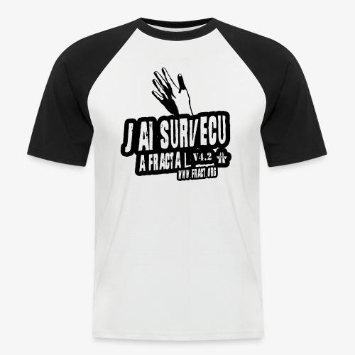 survie fractal - T-shirt baseball manches courtes Homme