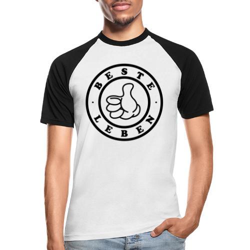 Beste Leben Logo - Männer Baseball-T-Shirt