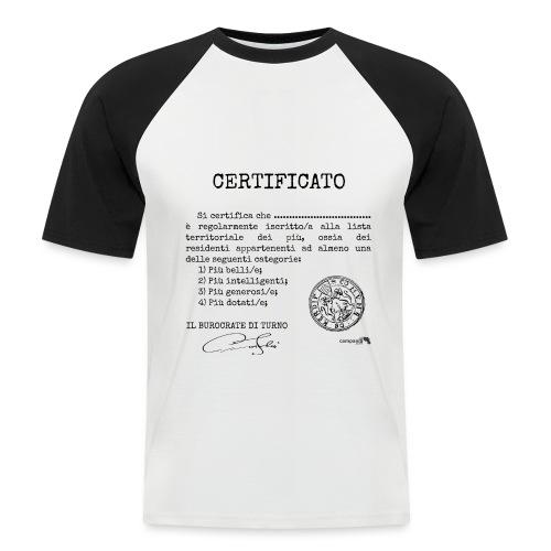 1.07 Certificato Piu Adulti (Aggiungi nome) - Maglia da baseball a manica corta da uomo
