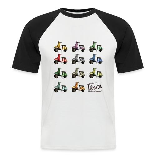 ♂ BIO-SHIRT: gusta la libertà - Männer Baseball-T-Shirt
