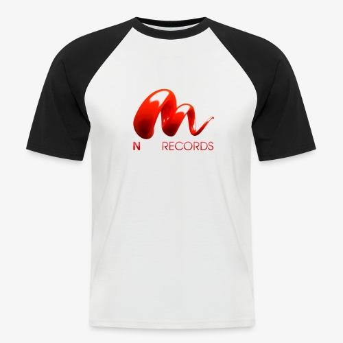 Logo Njoy Records Blanc - T-shirt baseball manches courtes Homme