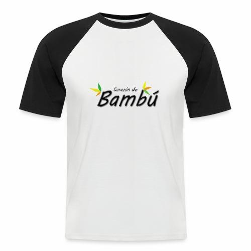 Corazón de bambú - Camiseta béisbol manga corta hombre