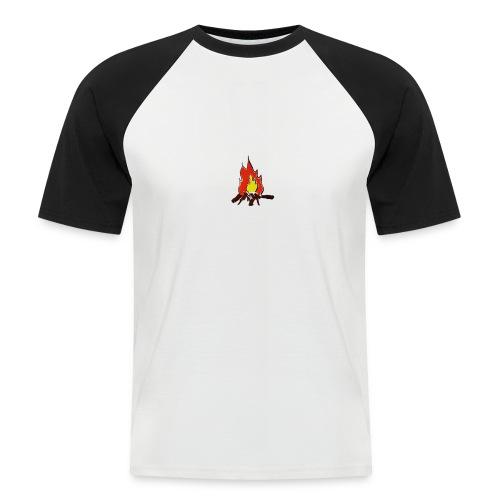 Fire color fuoco - Maglia da baseball a manica corta da uomo