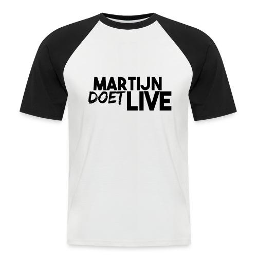 MartijnDoetLive - Mannen baseballshirt korte mouw