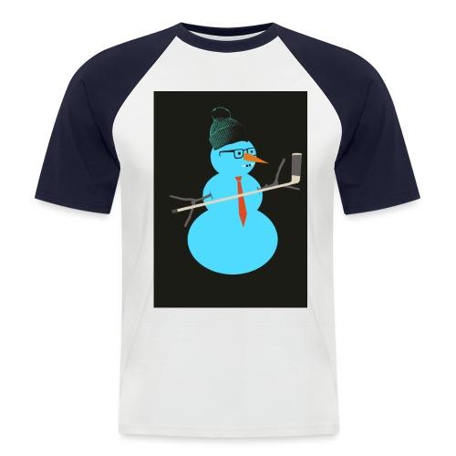 Hockey snowman - Miesten lyhythihainen baseballpaita